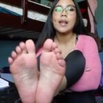 Nerdy Asian Cutie First Foot Fetish Solo