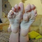 Beautiful Milf Shows Off Her Big Feet
